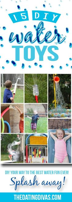 DIY water toys from The Dating Divas! My kids are going to LOVE these!