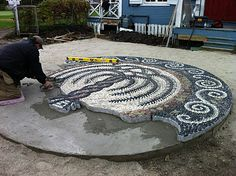 Ward's Island Community Pebble Mosaic Project: mosaic project details