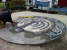 Ward's Island Community Pebble Mosaic Project: mosaic project details