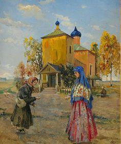 "Painting by the Grand Duchess Olga Alexandrovna Romanova of Russia. ""AL"""