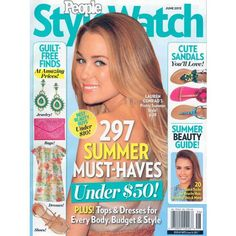 People StyleWatch Magazine cover featuring 297 Summer Must Haves, 2013 issue. To contact TWX Magazine Customer Service by Phone about your People StyleWatch magazine subscription: 1- (877) 463-3032