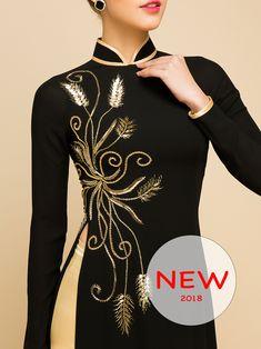 Hand Embroidery Dress, Kurti Embroidery Design, Embroidery On Clothes, Embroidery Fashion, Abaya Designs, Kurti Designs Party Wear, Ao Dai, Skirt Fashion, Fashion Dresses