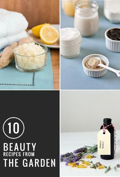 10 DIY Beauty Recipes from the Garden