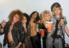 """October 10 1985, Guns N' Roses was asked to fill-in for L.A. GUNS at the Troubadour in Los Angeles, California. Fans who were in attendance that night got an added bonus when the band performed """"Paradise City"""" for the first time ever!"""