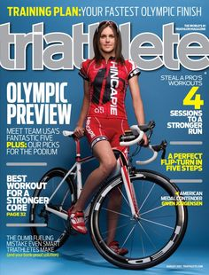 Gwen Jorgensen, Olympic triathlete from Wisco, on the cover of Triathlete magazine.