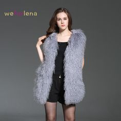 >> Click to Buy << Welfurlena 75cm Genuine Mongolia Sheep Vest Long Solid Winter Natural Fur Coat For Women Fashion Thick Warm Fur Waistcoat  #Affiliate