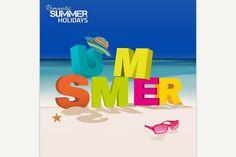 3D Summer Letters