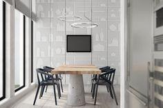 #residential #kitchen #concept #design #white #elitis #wallpaper