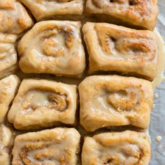 Healthier one hour protein cinnamon scrolls with salted maple frosting