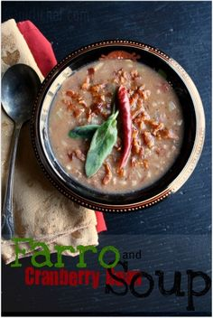 Mushroom and Farro Soup | Recipe | Mushrooms and Soups