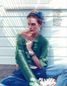 Turquoise Inspiration | Shannan Click Dons Flirty Summer Looks for Elle France June 2012 by Nagi Sakai