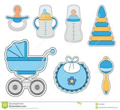 Illustration about Set of baby boy stickers isolated on white background. Illustration of white, illustration, vector - 33729856 Baby Shower Niño, Baby Shower Cards, Baby Onesie Template, Dibujos Baby Shower, Moldes Para Baby Shower, Baby Shower Souvenirs, Welcome Baby Boys, Baby Boy Scrapbook, Baby Stickers