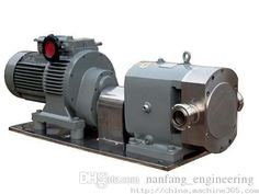 7100~14000L/H Rotary Lobe Syrup Pump with Gearbox