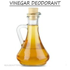 DIY vinegar deodorant to whiten armpits and get rid of odor