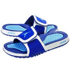 save off 27bdc c457a girl jordan slides   NIKE JORDAN HYDRO 2 MENS 312527-407 Sandals Slides  Slippers BLUE .