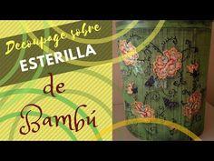 Caja Decorada con Decoupage sobre Esterilla de Bambu - YouTube