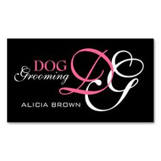 Elegant Dog Grooming Business Card Monogram. I love this design! It is available for customization or ready to buy as is. All you need is to add your business info to this template then place the order. It will ship within 24 hours. Just click the image to make your own!