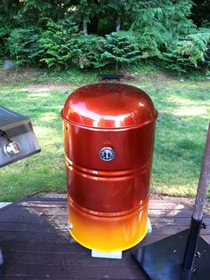 Not so ugly ugly drum smoker.
