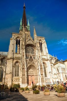 La Cathédrale de Rouen, in the town where I grew up - Haute-Normandie, France Cathedral Basilica, Cathedral Church, Oh The Places You'll Go, Places To Travel, Places To Visit, Paris, Normandie France, Belle France, Gothic Architecture