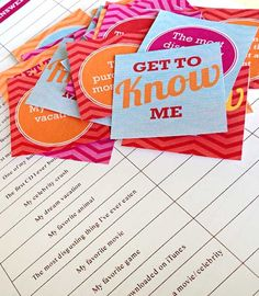 "SUPER cute ""get-to-know-you"" game. So fun for spouses to play! See how well you really know each other."