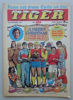 Tiger comic CHRISTMAS 1971 - 25 Dec VG- (phil-comics) Christmas Cover, Christmas Holidays, Xmas, Dandy Comic, Comic Art, Comic Books, My Youth, Comic Covers, Navidad