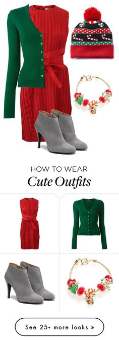 """""""How to Successfully Ruin a Cute Christmas Outfit"""" by cornerofquirkyandspectacular on Polyvore featuring Victoria, Victoria Beckham, Dolce&Gabbana, Napier and Capelli New York"""
