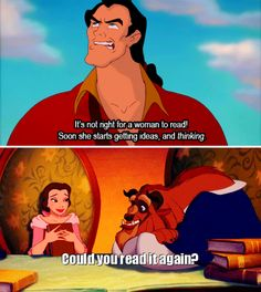 <3. That is why when I encounter men like Gaston in real life I glare at them and when they try to say something else I kick them in the parts