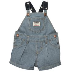 Hickory Stripe Shortalls | Baby Girl Overalls & Jumpers