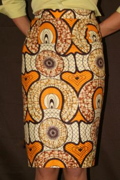Pencil Skirt in African Fabric by MelangeMode on Etsy