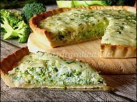 Pie dough : 0000 250 g flour 1 pinch salt 125 g butter 40 ml ice water Filling: 2 or 3 tablespoons oil 1 onion Broccoli Quiche Recipes, Veggie Recipes, Vegetarian Recipes, Healthy Recipes, Quiches, Omelettes, Kitchen Recipes, Cooking Recipes, Salada Light