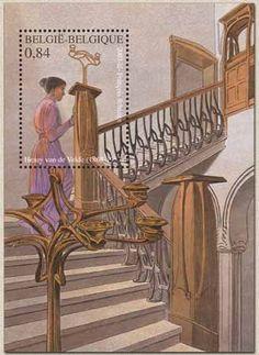 Postzegel: Bloc Henry Van de Velde: Art nouveau (België) (Henry Van de Velde) Mi:BE BL87,Yt:BE BF93,Bel:BE BL101