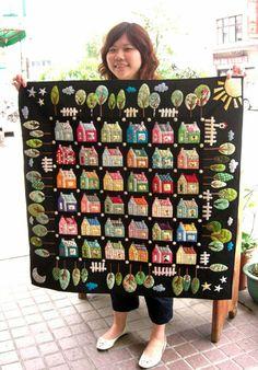 Huisjes quilt