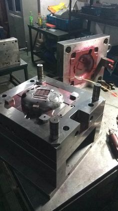 Wifi machine injection mold