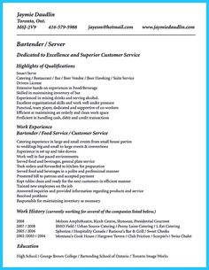 awesome impressive bartender resume sample that brings you to a bartender job