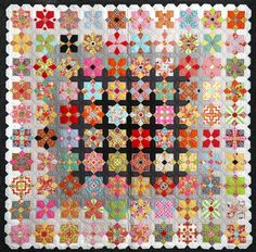 Quatro Colour Quilt Pattern, Papers and Templates by Sue Daley Designs