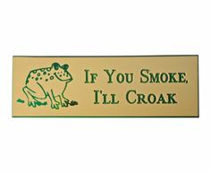 "If YOu SMoKE I'LL CRoAK vintage pin badge humor slogan frog do not smoke by VintageTrafficUSA  11.00 USD  A vintage If You Smoke pin! Old but excellent condition. Measures: approx 3"" Have some individuality = some flair! Add inspiration to your handbag tie jacket backpack hat or wall. -------------------------------------------- SECOND ITEM SHIPS FREE IN USA!!! LOW SHIPPING OUTSIDE USA!! VISIT MY STORE FOR MORE ITEMS!!! http://ift.tt/1PTGYrG FOLLOW ME ON FACEBOOK FOR SALE CODES AND UPDATES…"