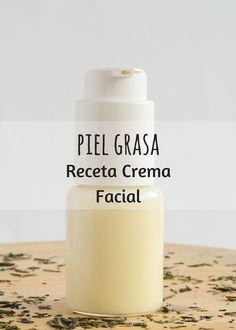 Cómo hacer una receta de crema natural casera para la cara con piel grasa.Te explico los Ingredientes y el paso a paso en este post.