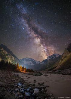 renamonkalou: The Milky Way in the mountains | Eugene Trisko