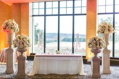 Chic White Wedding, Sweetheart Table| Bella Collina | Concept Photography | Vangie's Events of Distinction
