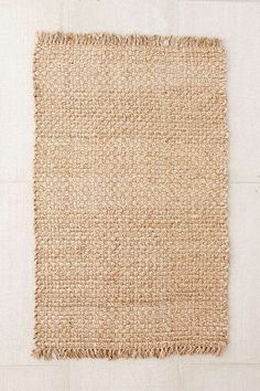 Shop Woven Natural Jute Rug at Urban Outfitters today. We carry all the latest styles, colors and brands for you to choose from right here. Wall Carpet, Grey Carpet, Modern Carpet, Rug Texture, Classic Rugs, Cheap Carpet Runners, Curtain Patterns, Jute Rug, San Miguel