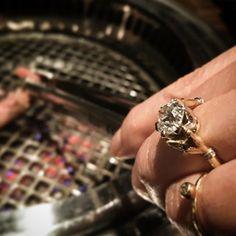 You grab the beef Ill hold that diamond! . . . . #yakiniku #gyukaku #diamondring #hands