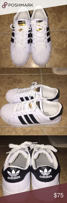 Adidas superstar shoes Too small for me so I'm selling. Feel free to offer! Adidas Shoes Sneakers