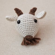 It's the year of the goat or sheep or what have you. Crochet a little amigurumi like this one from Turtlekeeper Designs. Crochet Mask, Diy Crochet And Knitting, Crochet Gratis, Crochet Toys, Free Crochet, Amigurumi Patterns, Crochet Patterns, Amigurumi Toys, Chinese New Year Zodiac