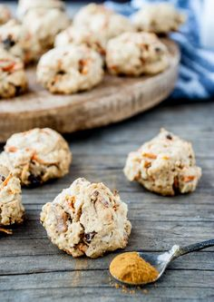 I love a good breakfast cookie. I mean what's better than having a sweet little treat first thing in the morning? These breakfast cookies are naturally sweetened with maple syrup and loaded with oats, walnuts, shredded carrots and raisins — making them perfect for a quick breakfast. Make them on Sunday, and grab them for breakfast all week long.