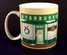 Pike Place Starbucks Coffee Large Mug Cup 2007 Japan Porcelain Collector Series #Starbucks