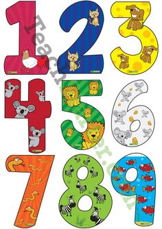 Numbers 0-9 with Animal Values | Teaching Resources - Teach Starter