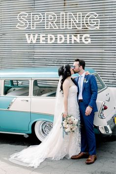 This vintage inspired spring wedding included plenty of time for bride and groom photography. They posed in front of their Los Angeles wedding venue for newlywed photography. Wedding Colors, Wedding Flowers, Spring Wedding Inspiration, Wedding Ideas, Spring Wedding Invitations, California Wedding Venues, Bridesmaids And Groomsmen, Outdoor Wedding Venues, Festival Wedding