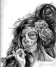 Muertita tattoo design  #tattoo #tattoos