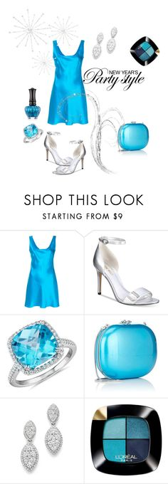 """""""New Year's Party Style (contest)"""" by airsunshine on Polyvore featuring Alberta Ferretti, Nine West, Blue Nile, Jeffrey Levinson, Bloomingdale's, L'Oréal Paris and Anna Sui"""