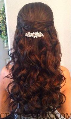 Demi moitié vers le bas coiffure de mariage